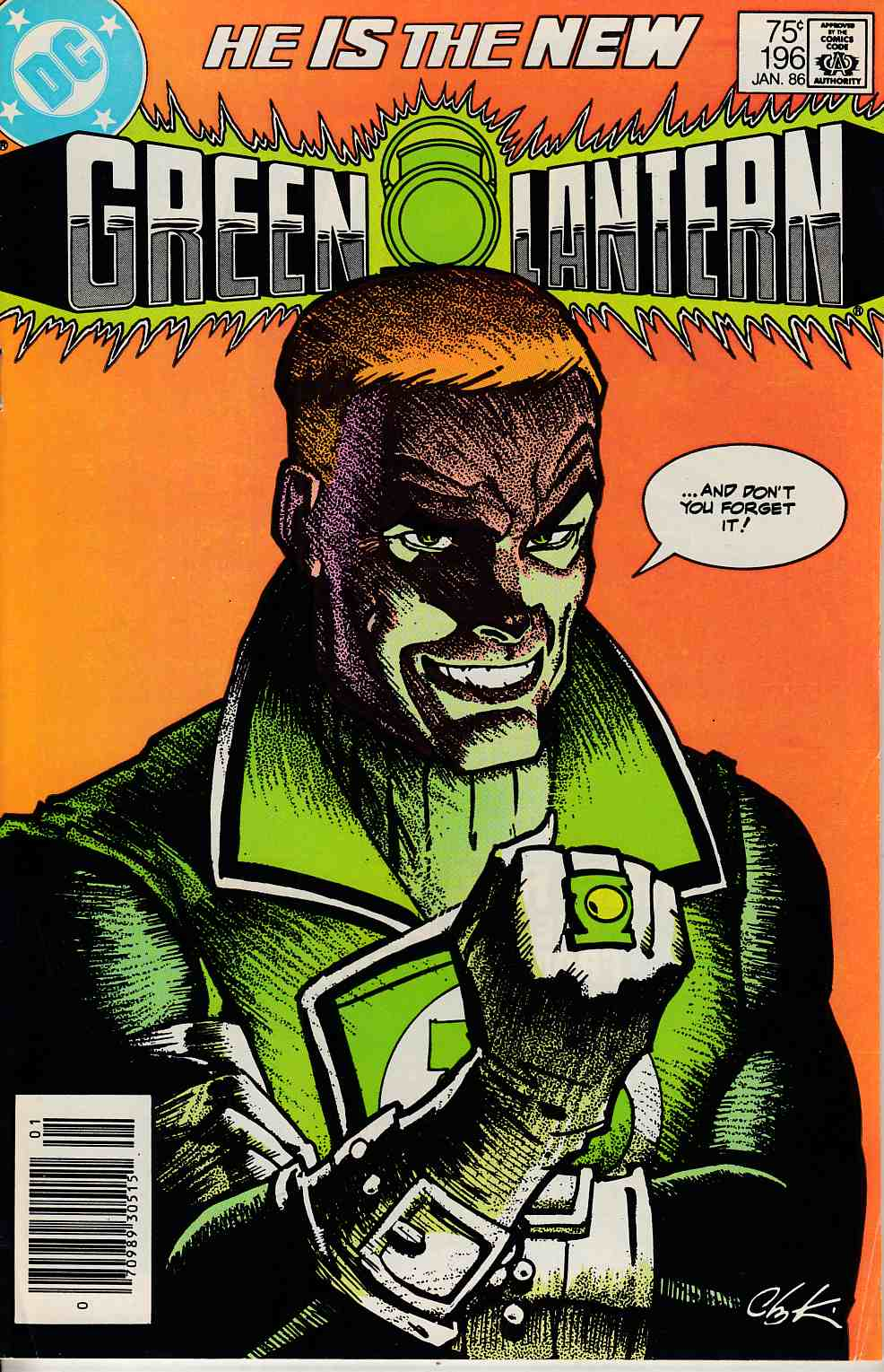 Green Lantern #196 Newsstand Edition Fine (6.0) [DC Comic] LARGE