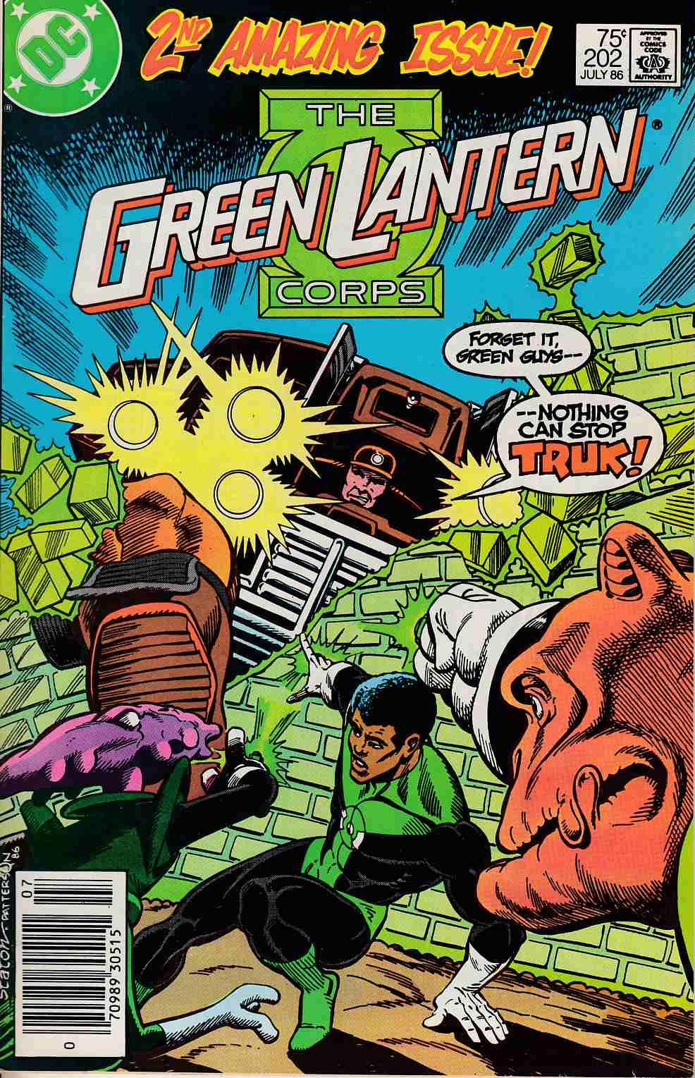 Green Lantern #202 Newsstand Edition Very Fine Minus (7.5) [DC Comic] LARGE