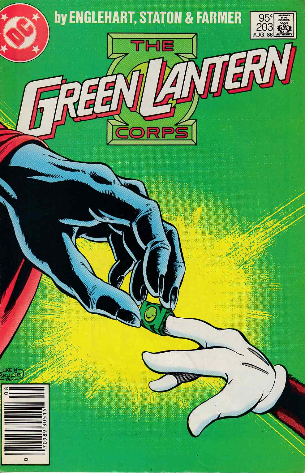 Green Lantern #203 Newsstand Edition Fine Minus (5.5) [DC Comic] LARGE