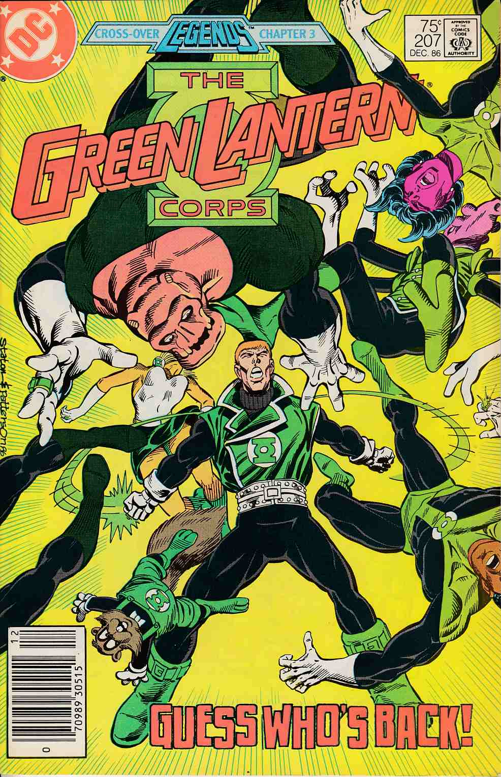 Green Lantern #207 Newsstand Edition Fine (6.0) [DC Comic] LARGE