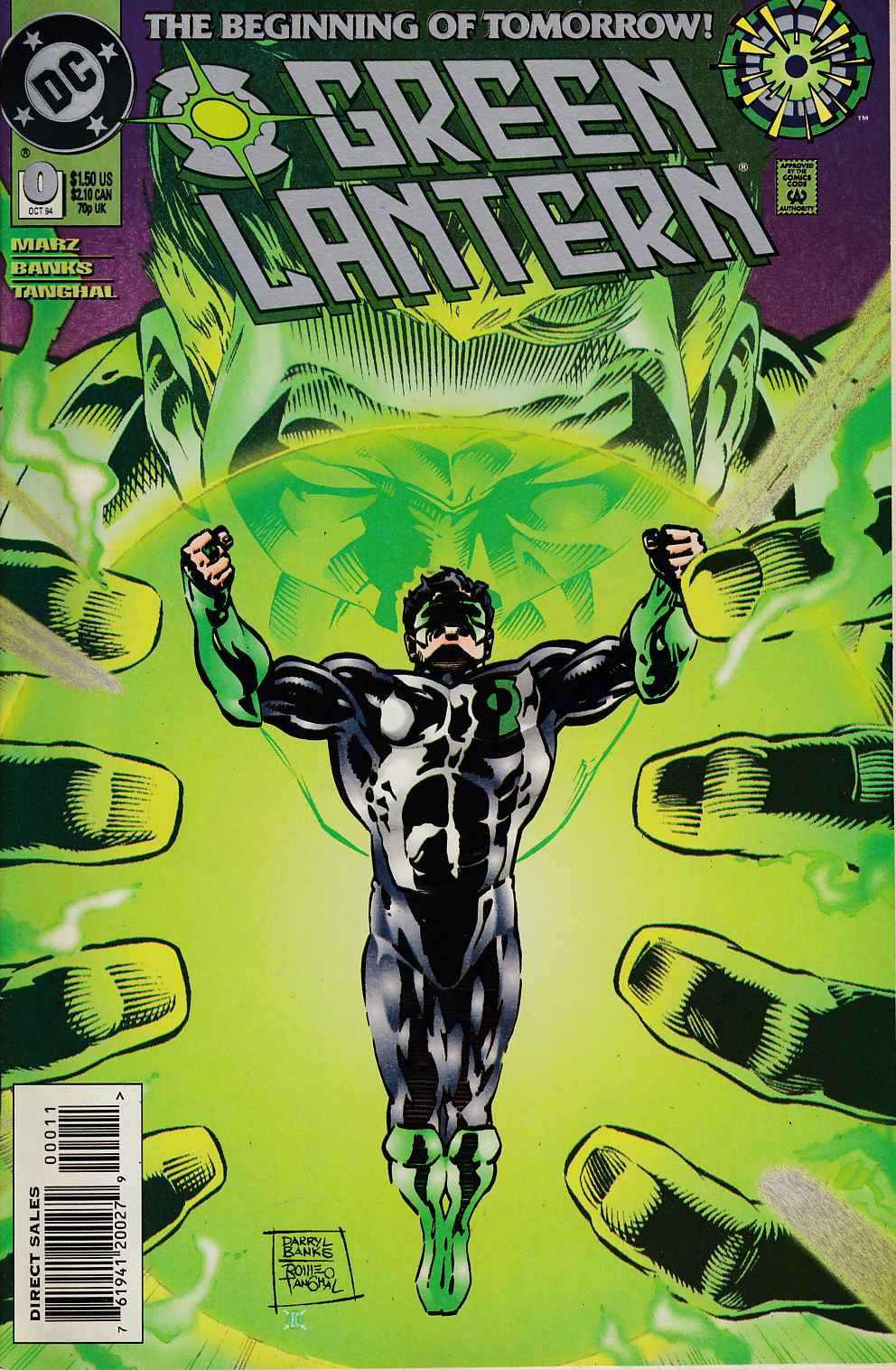 Green Lantern #0 Near Mint Minus (9.2) [DC Comic] THUMBNAIL