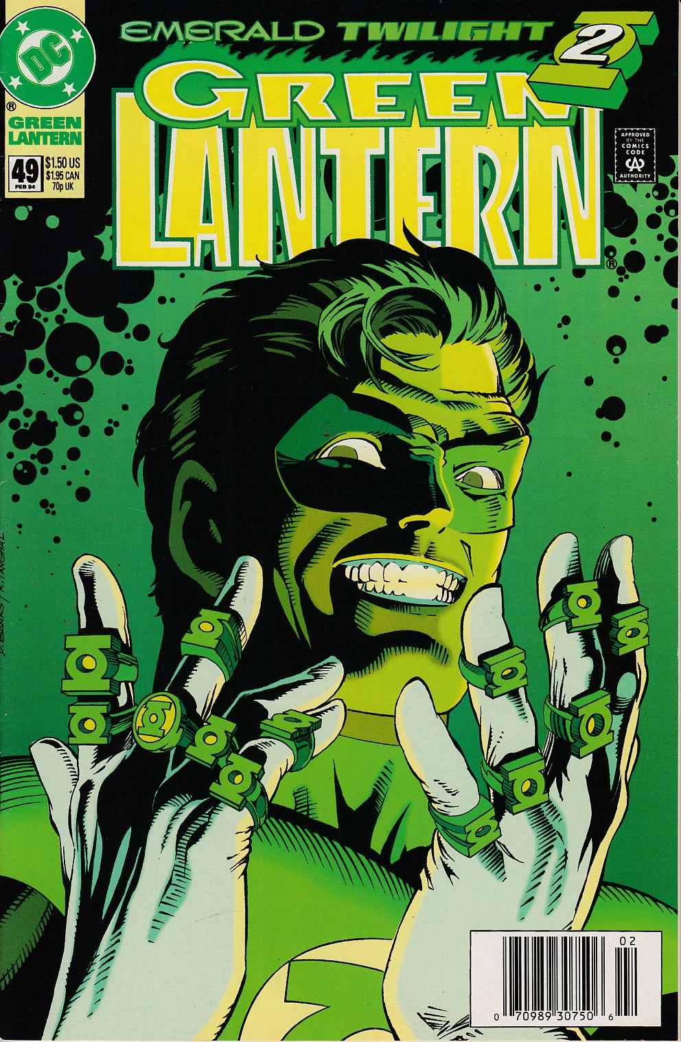 Green Lantern #49 Newsstand Edition Near Mint (9.4) [DC Comic] THUMBNAIL