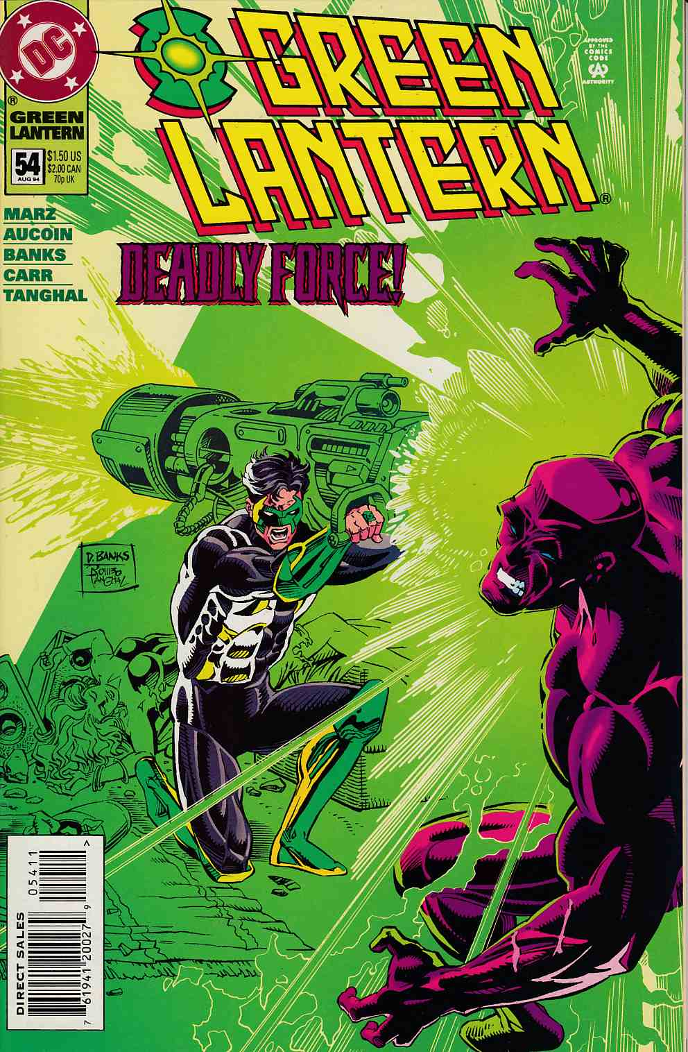 Green Lantern #54 Near Mint (9.4) [DC Comic] LARGE