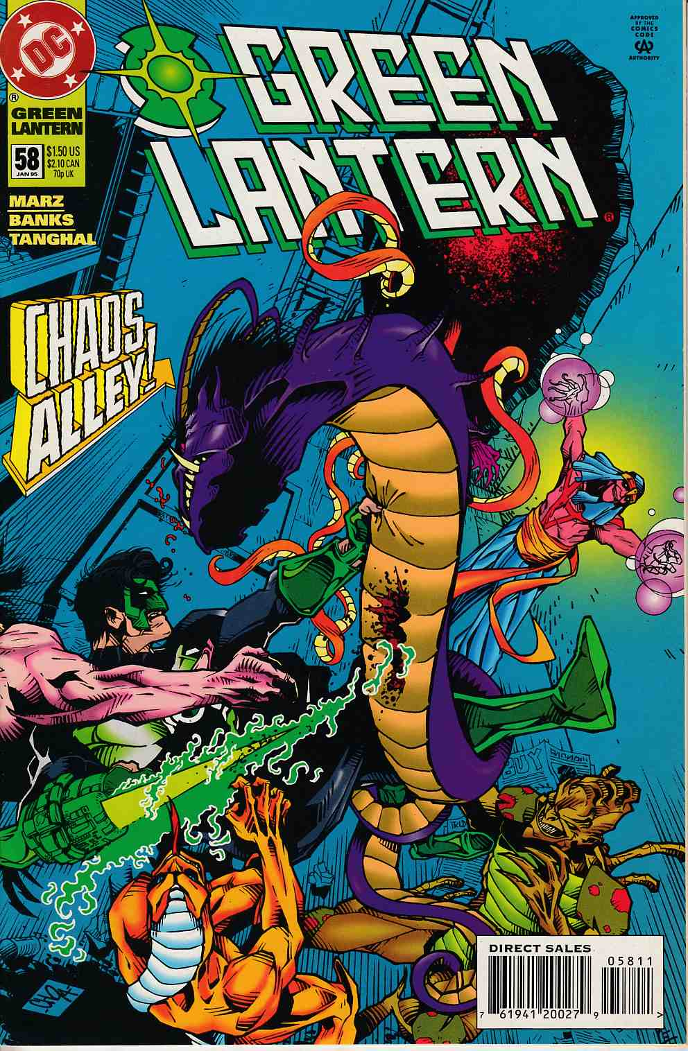 Green Lantern #58 Near Mint (9.4) [DC Comic] LARGE