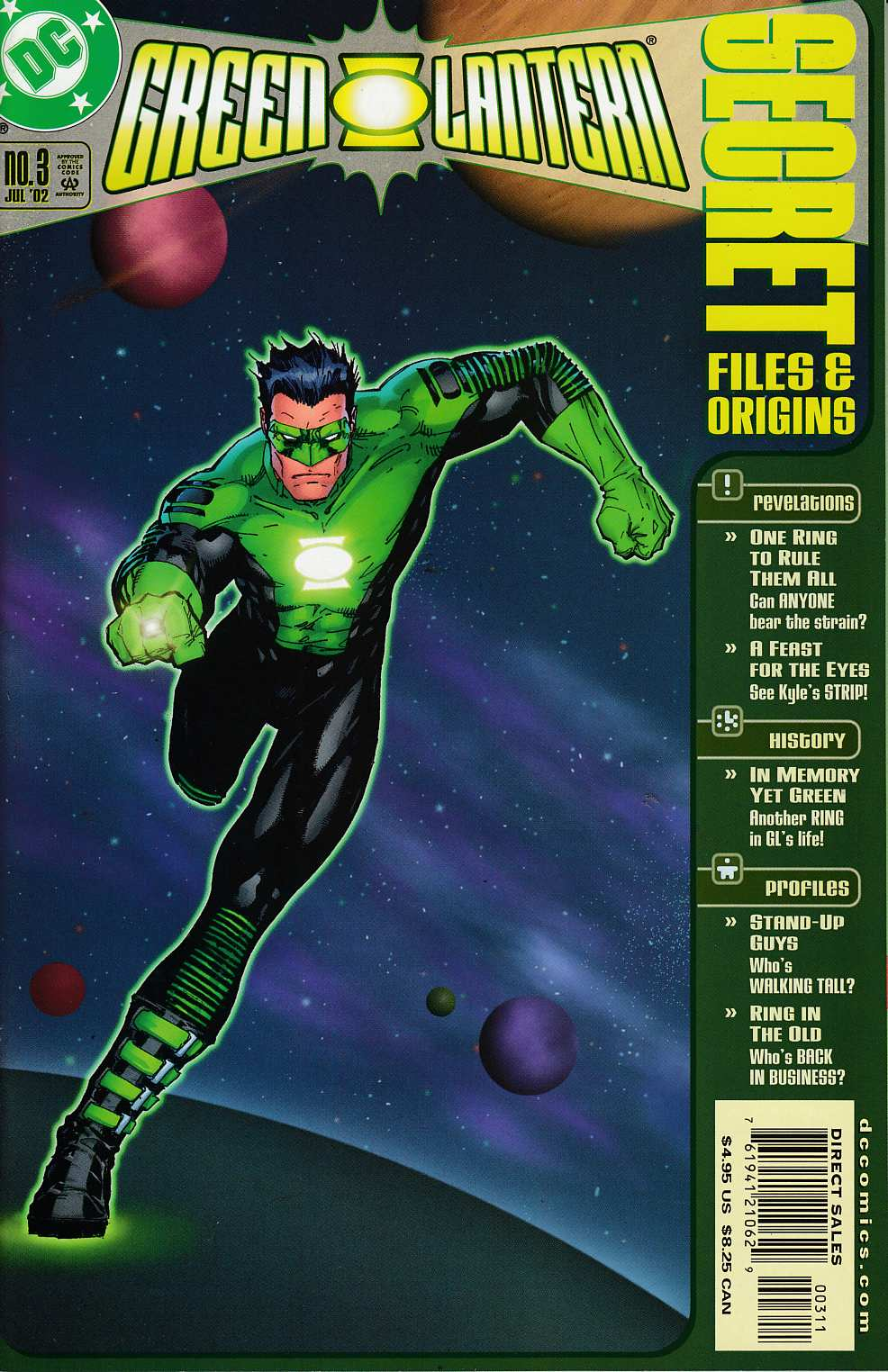 Green Lantern Secret Files #3 Near Mint Minus (9.2) [DC Comic]_THUMBNAIL