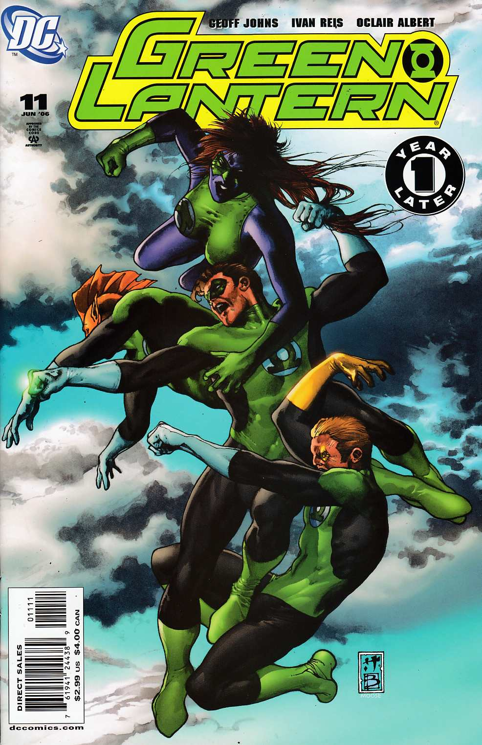 Green Lantern #11 Near Mint (9.4) [DC Comic] LARGE