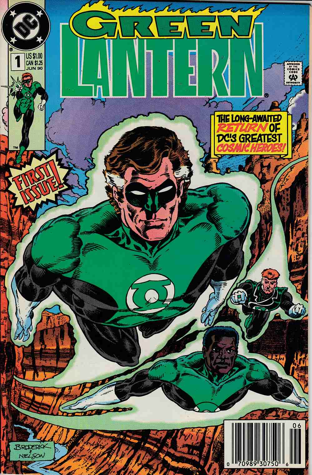 Green Lantern #1 Newsstand Edition Very Fine Minus (7.5) [DC Comic] THUMBNAIL