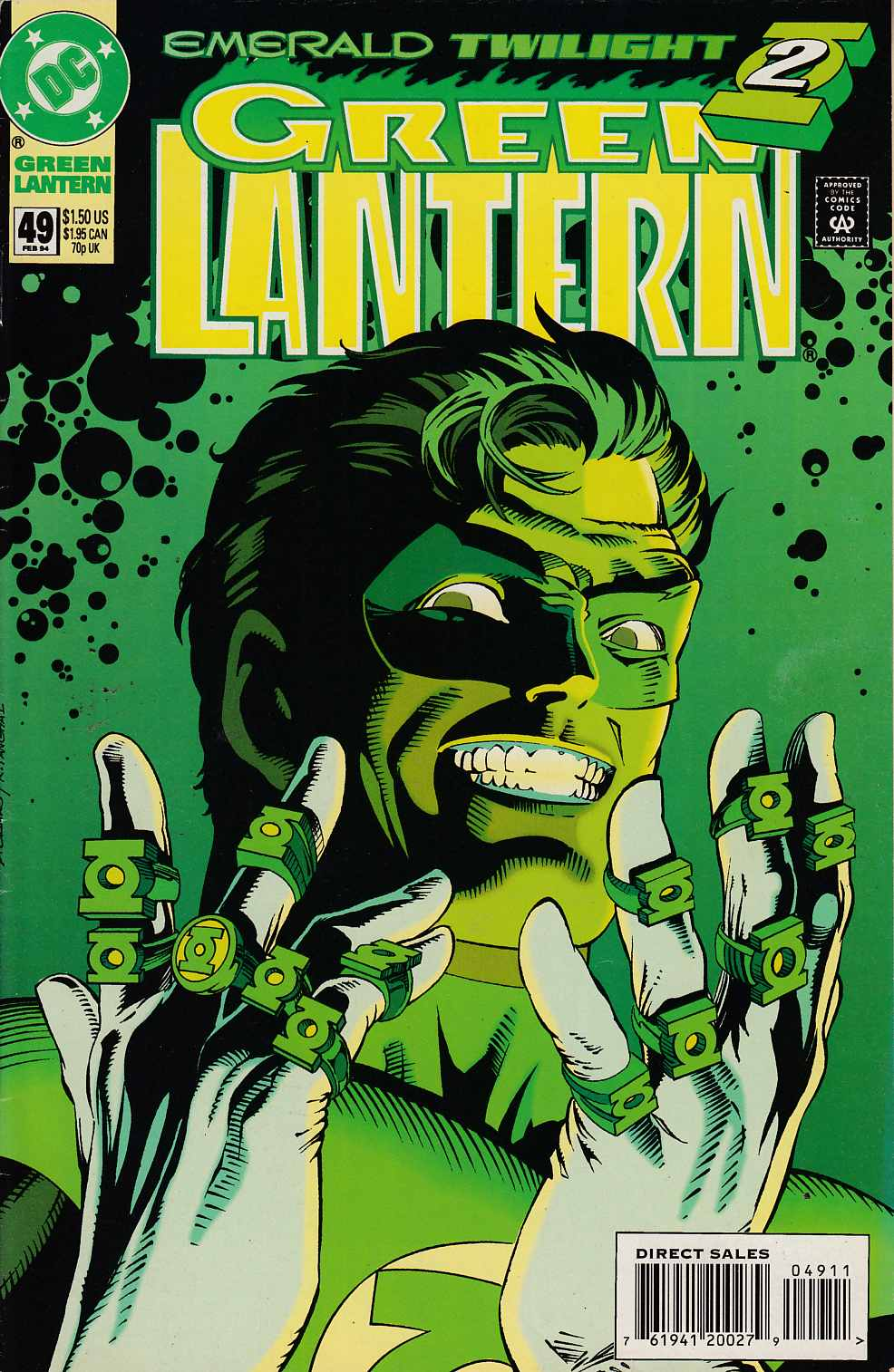 Green Lantern #49 Very Fine Minus (7.5) [DC Comic] THUMBNAIL