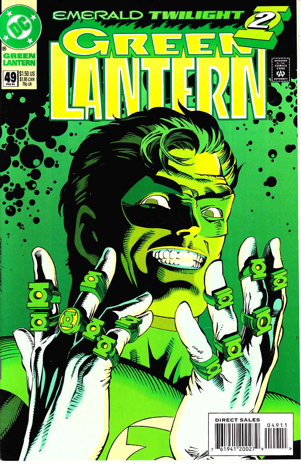 Green Lantern #49 Near Mint (9.4) [DC Comic] THUMBNAIL