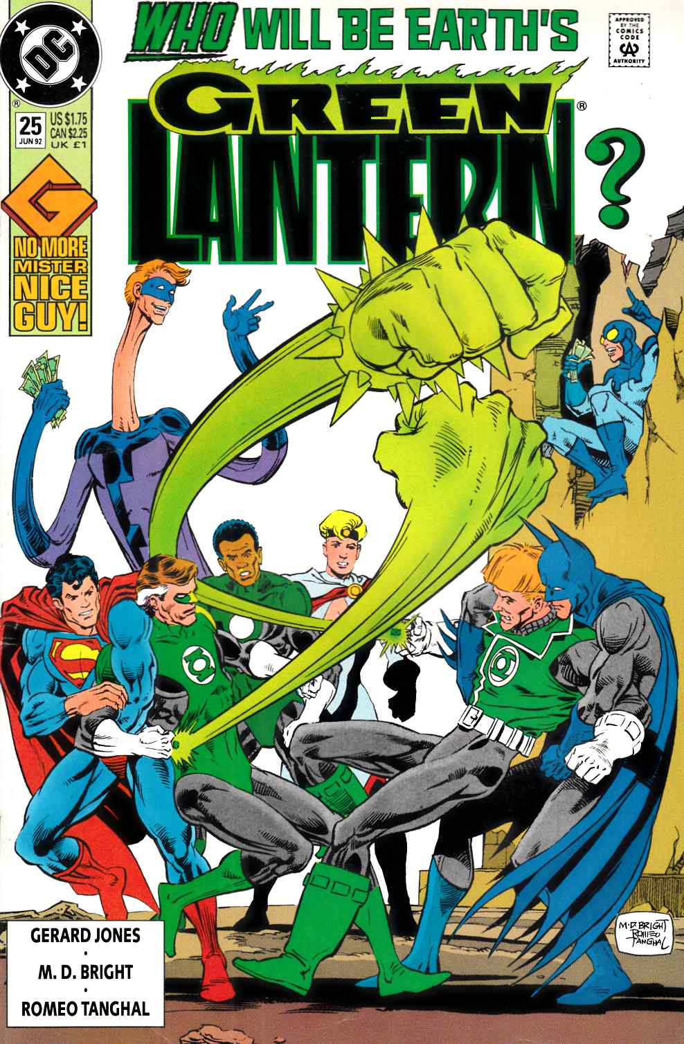 Green Lantern #25 Very Fine Minus (7.5) [DC Comic] LARGE