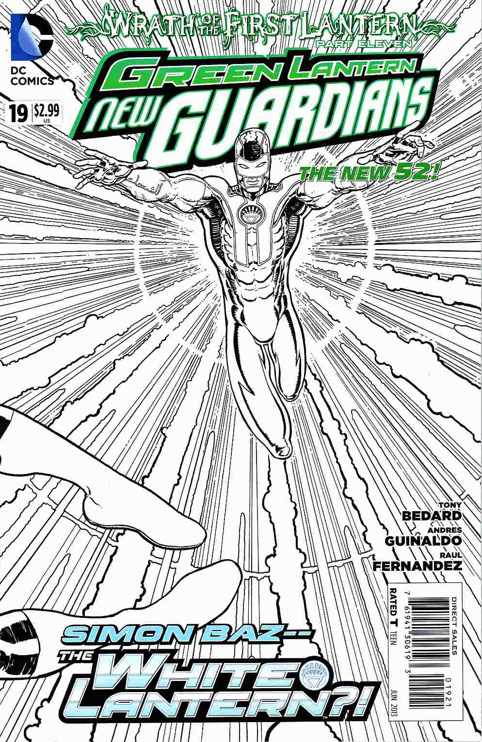 Green Lantern New Guardians #19 B&W Variant Cover (Wrath) [DC Comic]