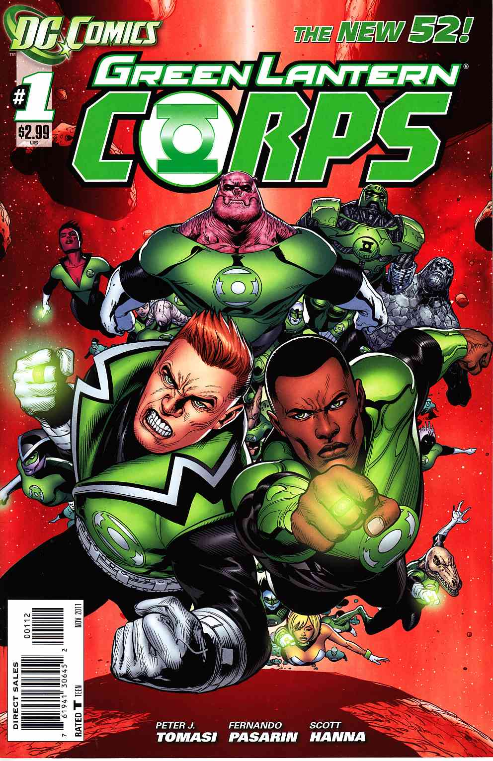 Green Lantern Corps #1 Second Printing [DC Comic] LARGE