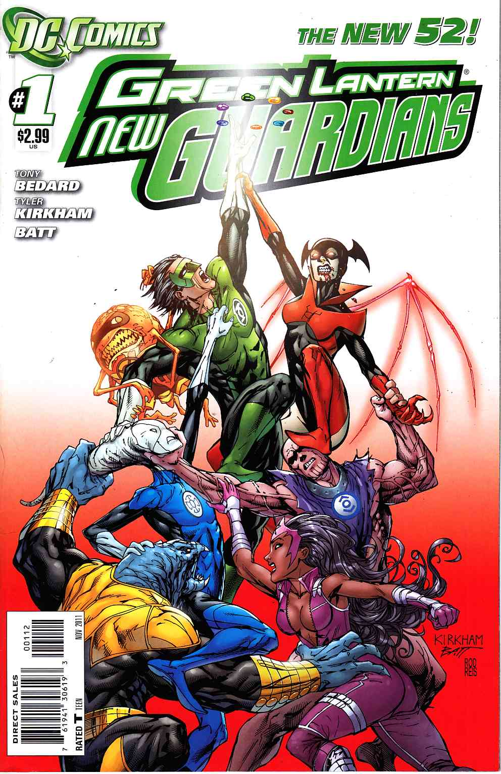 Green Lantern New Guardians #1 Second Printing [DC Comic]