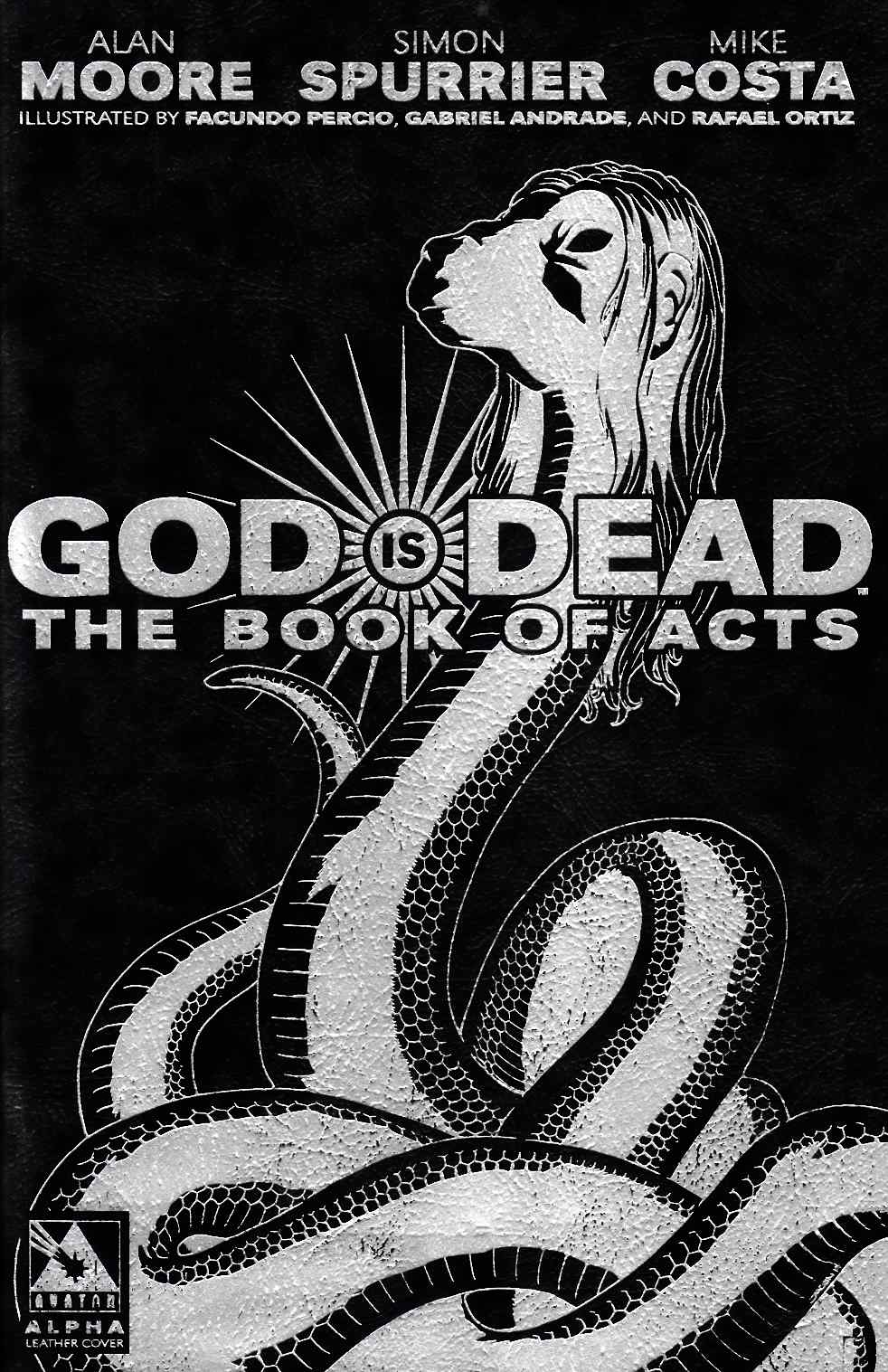 God Is Dead Book of Acts Alpha (One Shot) Glycon Leather Cover [Comic] LARGE