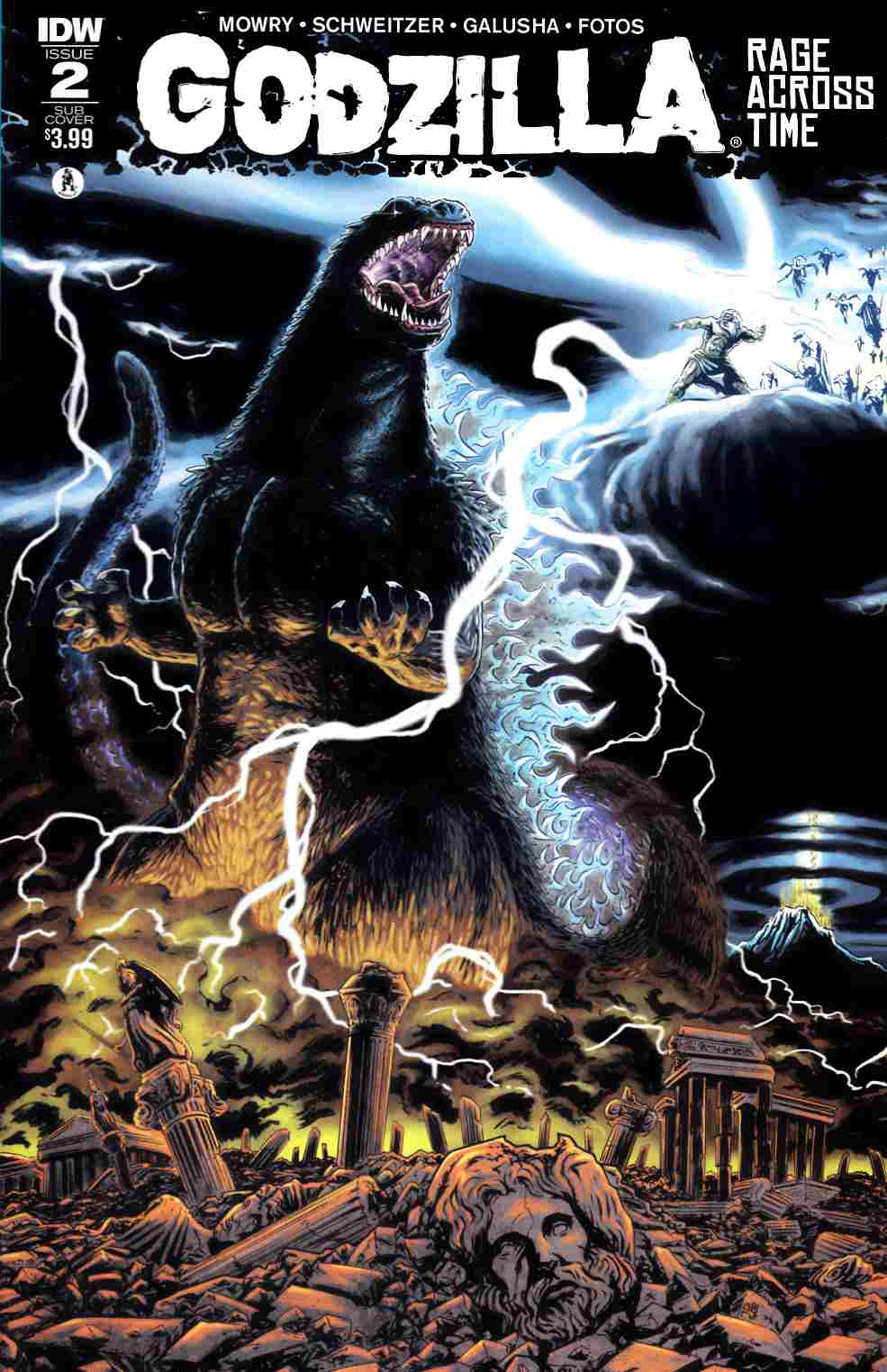 Godzilla Rage Across Time #2 Subscription Cover [IDW Comic] THUMBNAIL