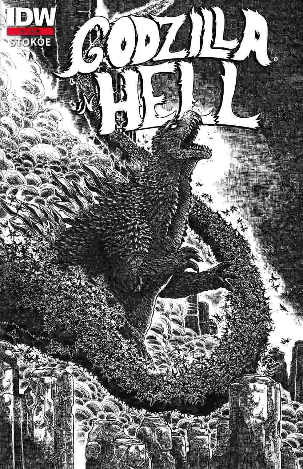 Godzilla In Hell #1 Third Printing [IDW Comic] THUMBNAIL
