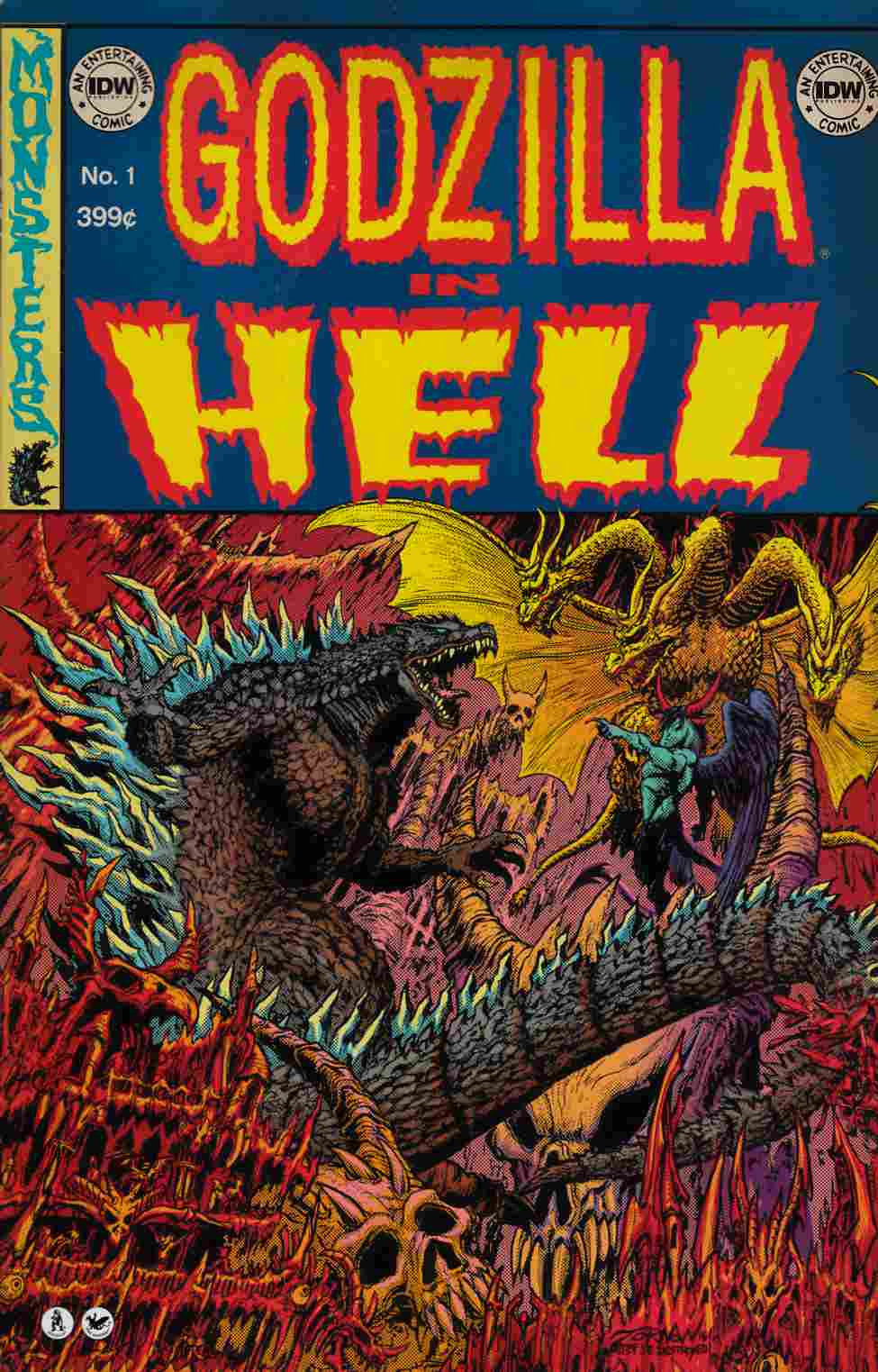 Godzilla In Hell #1 EC Subscription Cover [IDW Comic] THUMBNAIL