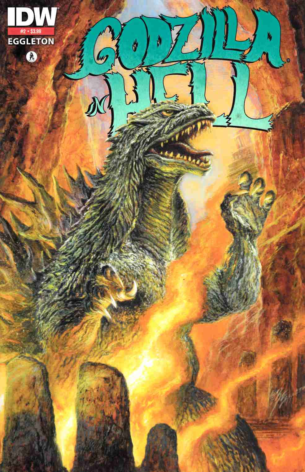 Godzilla In Hell #2 Third Printing Near Mint (9.4) [IDW Comic] THUMBNAIL