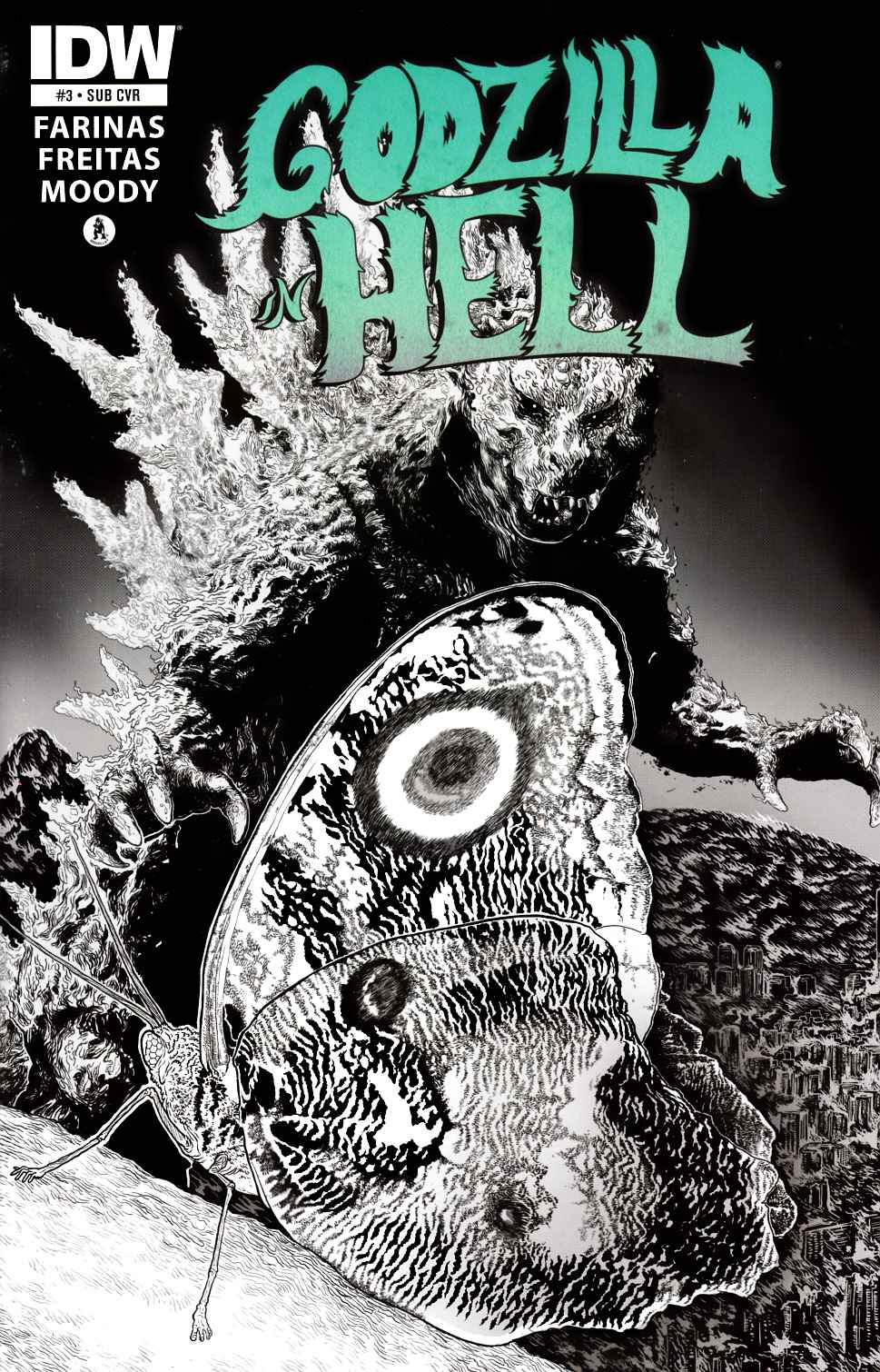 Godzilla in Hell #3 Subscription Cover [IDW Comic] THUMBNAIL