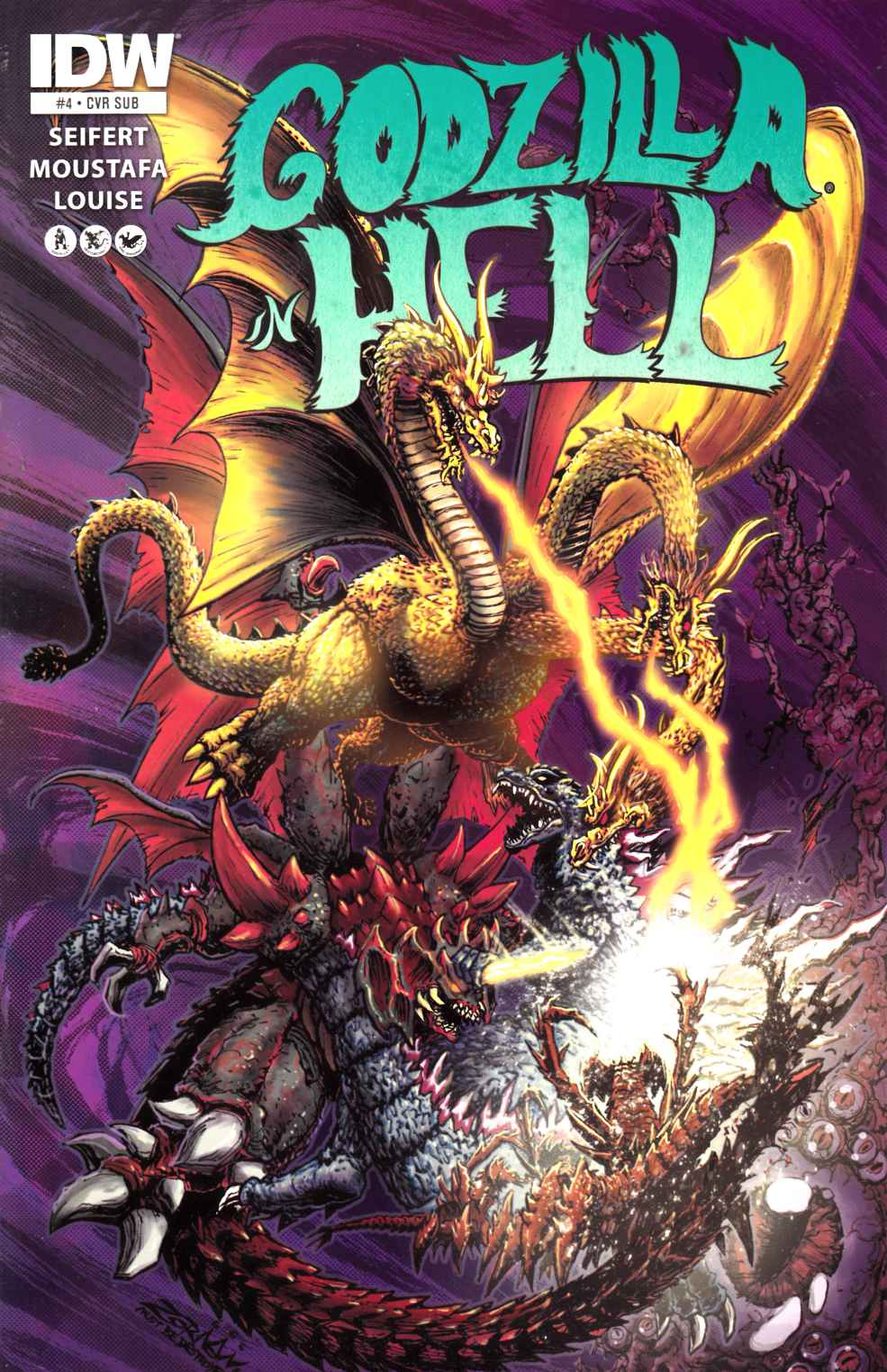 Godzilla in Hell #4 Subscription Variant Cover [IDW Comic] THUMBNAIL