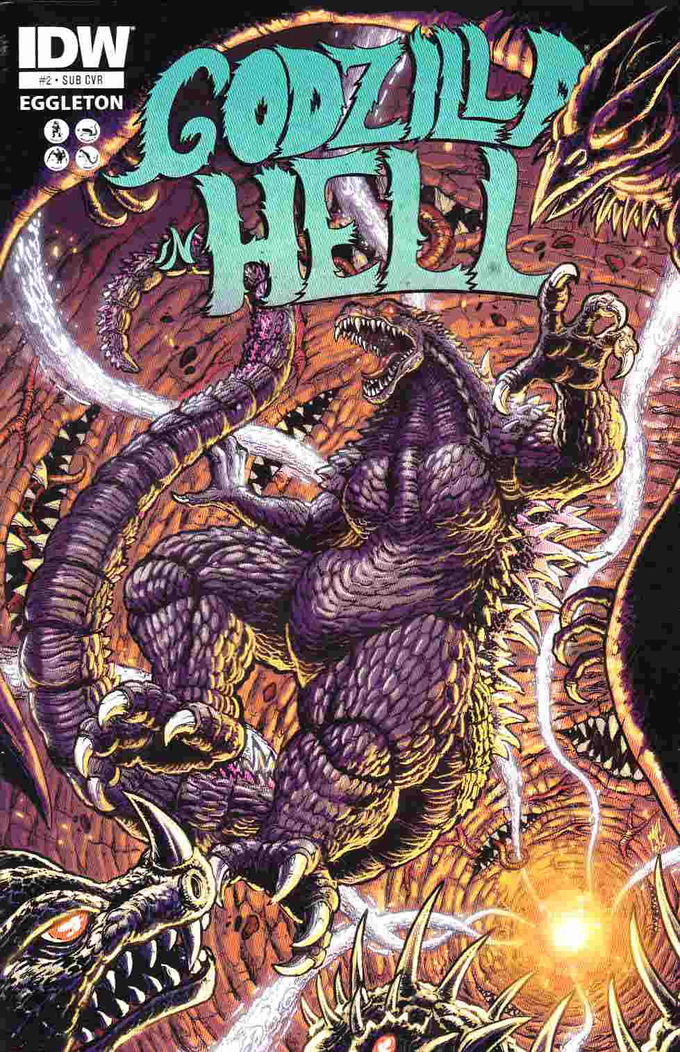 Godzilla In Hell #2 Subscription Cover [IDW Comic] THUMBNAIL