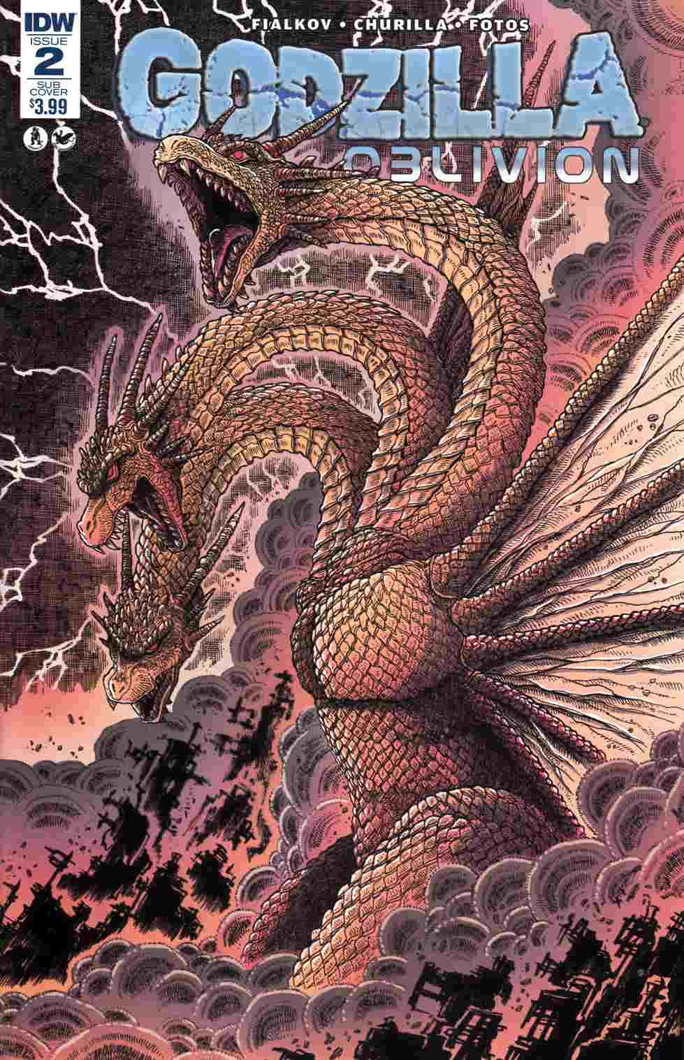 Godzilla Oblivion #2 Subscription Cover [IDW Comic] THUMBNAIL