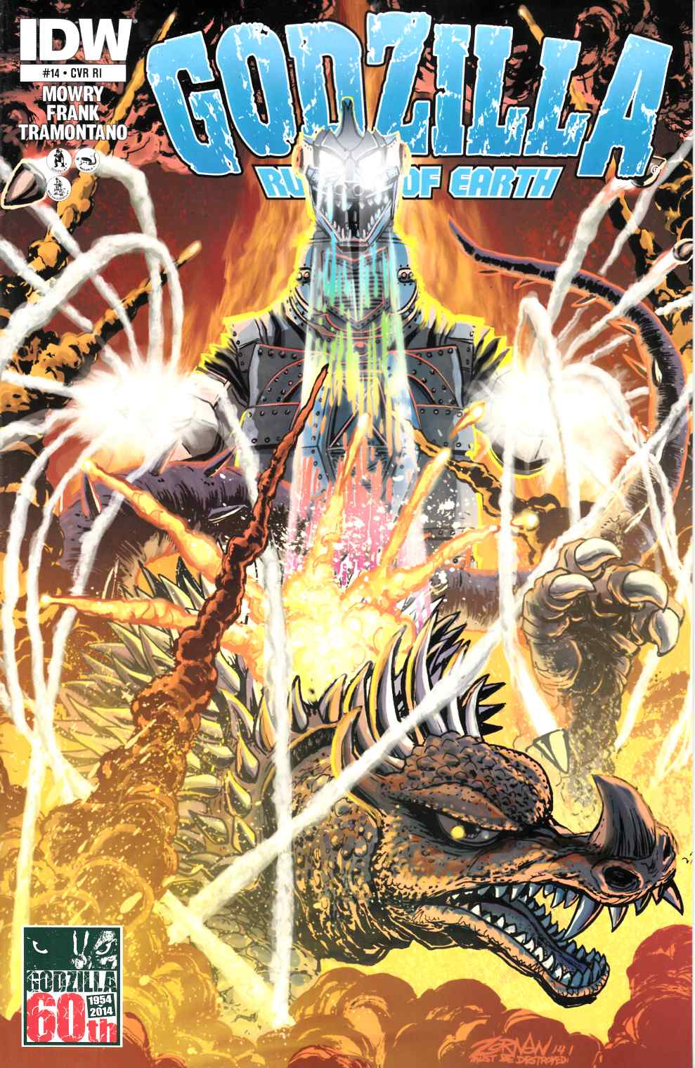 Godzilla Rulers of the Earth #14 Cover RI [Comic]