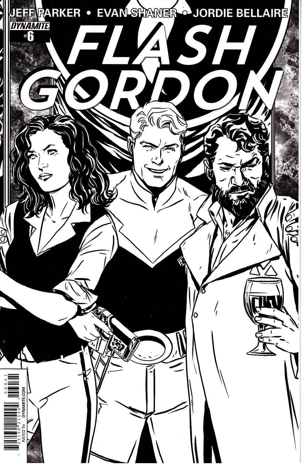 Flash Gordon #6 B&W Reorder Variant Cover [Comic] THUMBNAIL