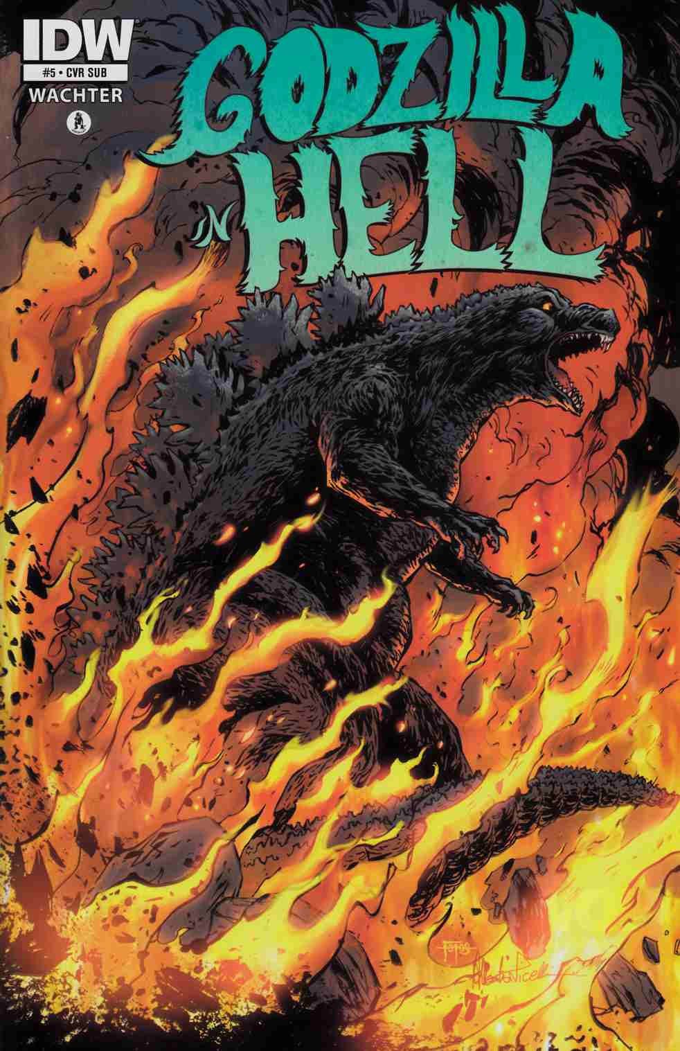 Godzilla in Hell #5 Subscription Cover [IDW Comic] THUMBNAIL