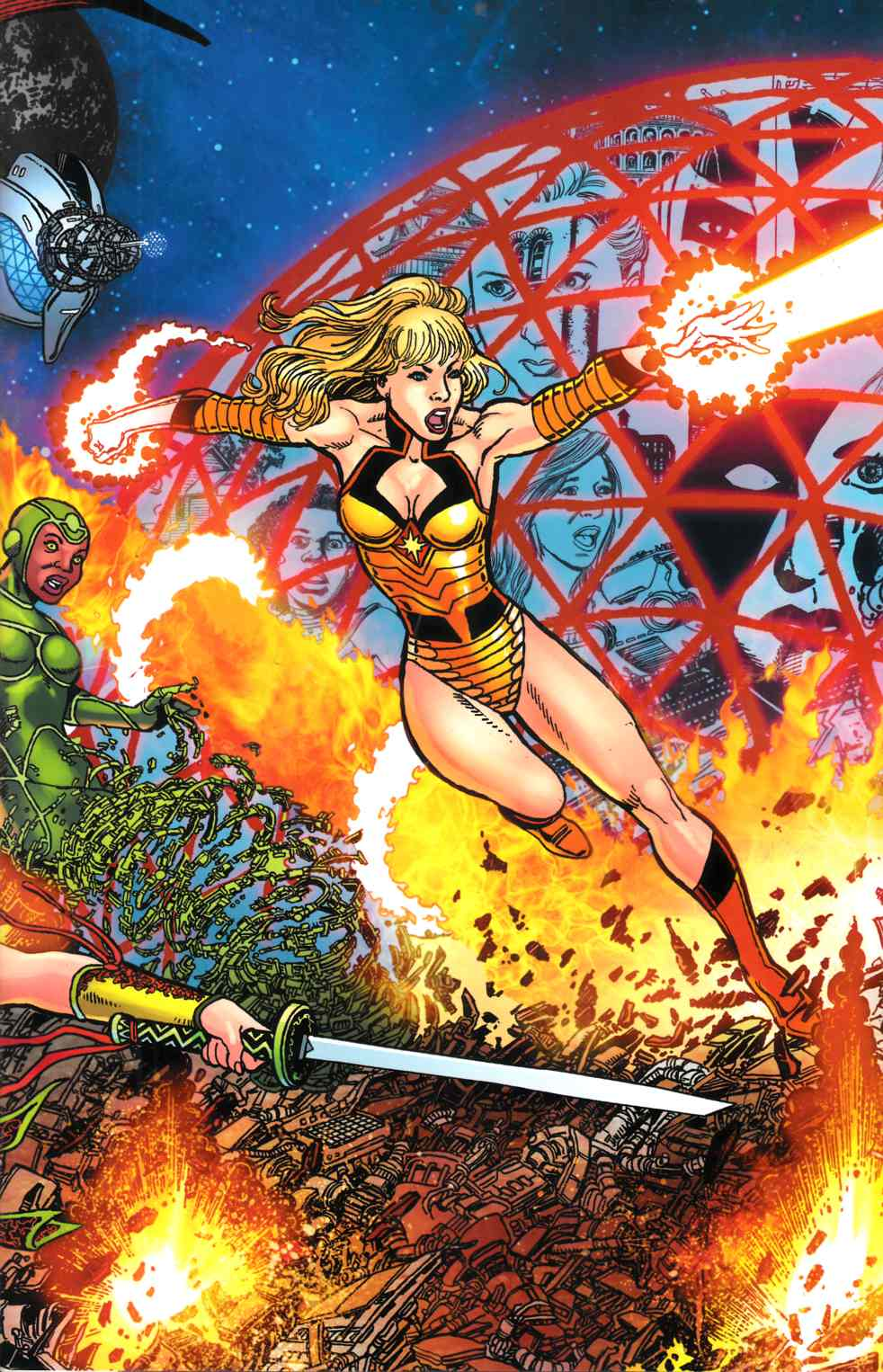 George Perez Sirens #1 Perez Wrap Left Variant Cover [Comic]