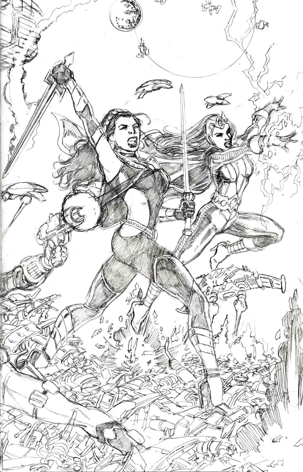 George Perez Sirens #1 Pencils Incentive Variant Cover [Comic] THUMBNAIL
