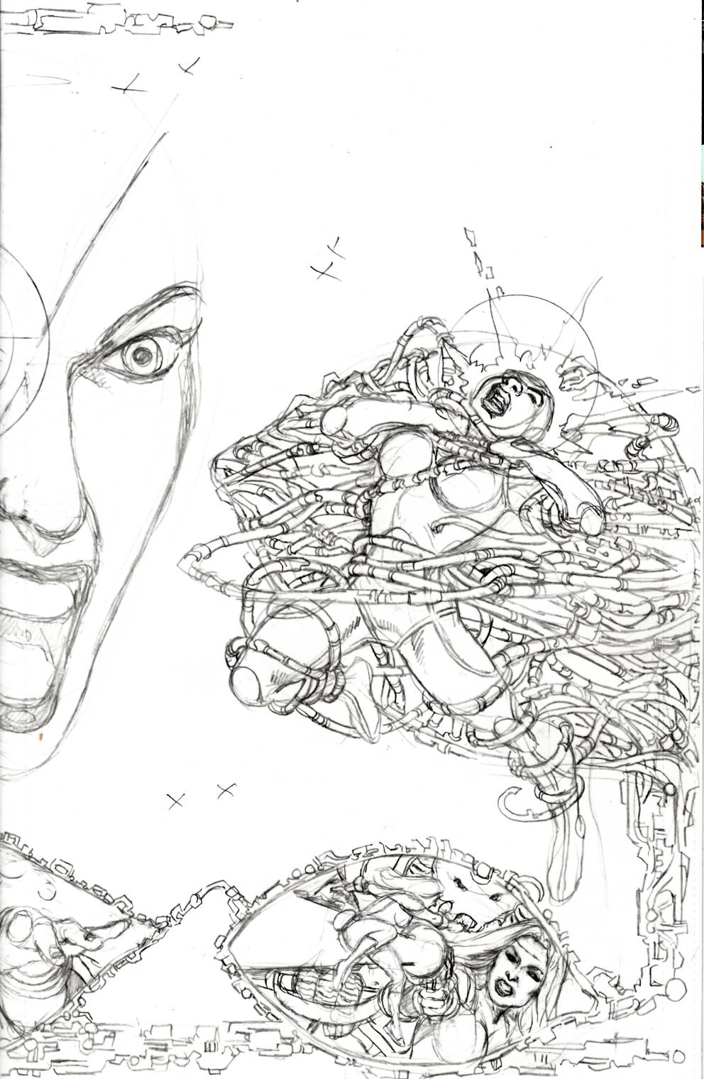George Perez Sirens #2 Cover C- Left Pencils Incentive [Boom Comic] THUMBNAIL