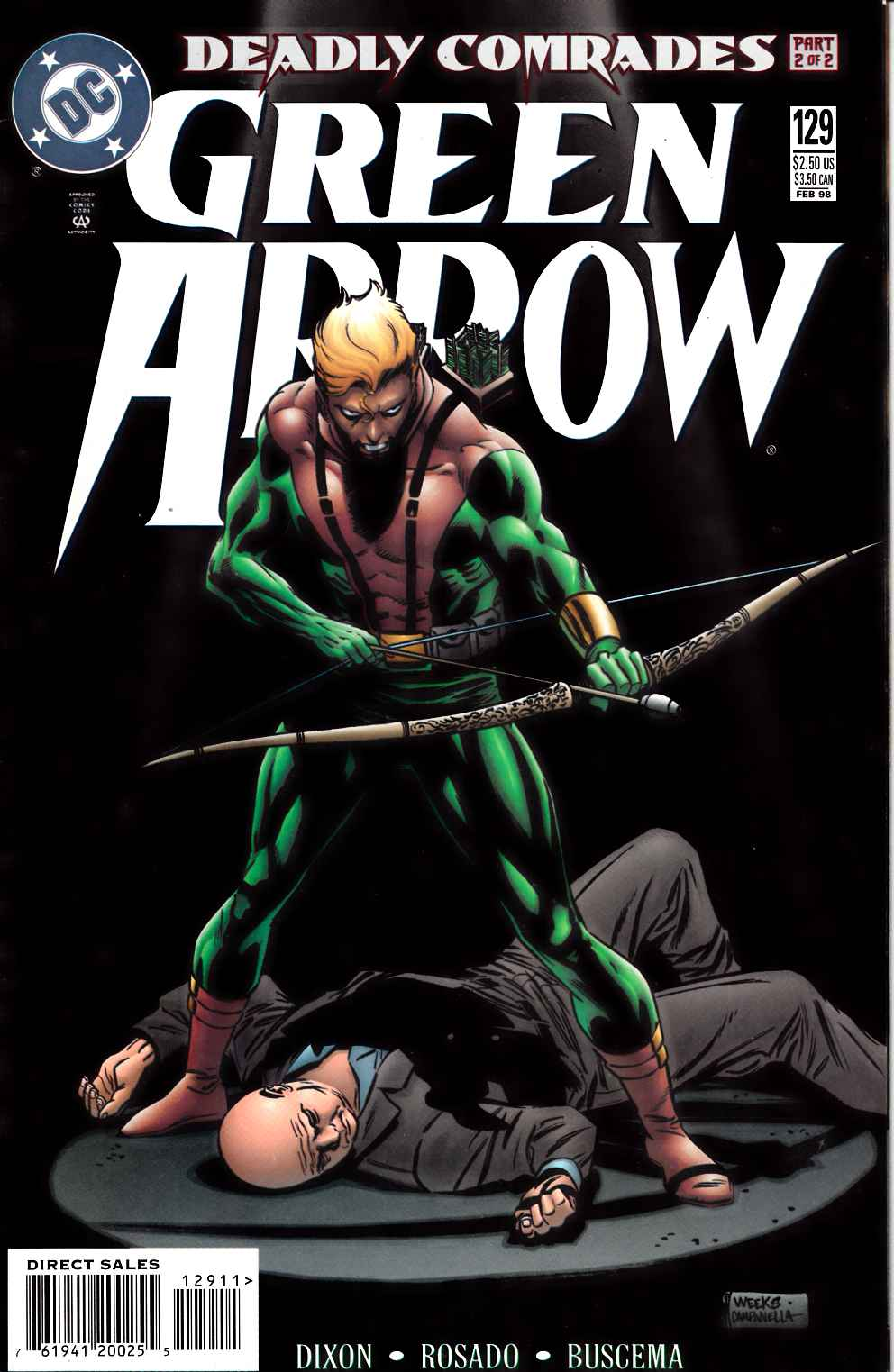 Green Arrow #129 Near Mint Minus (9.2) [DC Comic] LARGE