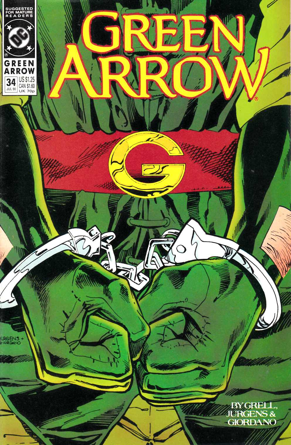 Green Arrow #34 Fine (6.0) [DC Comic] LARGE