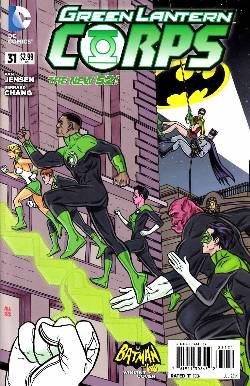 Green Lantern Corps #31 Batman '66 Variant Cover (Uprising) [Comic] LARGE