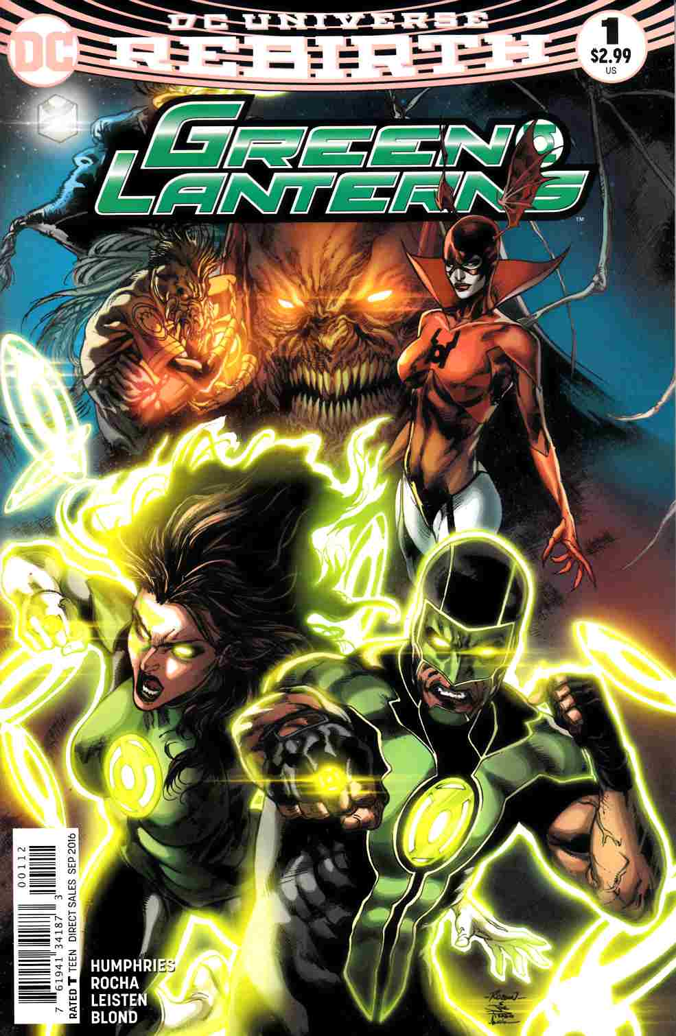Green Lanterns #1 Second Printing [DC Comic] LARGE
