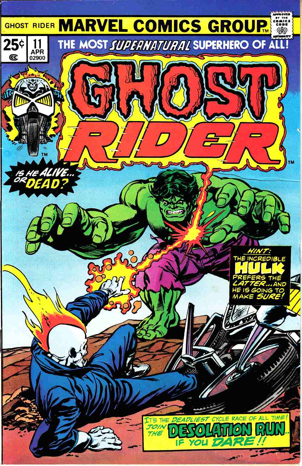 Ghost Rider #11 Fine (6.0) [Marvel Comic] THUMBNAIL