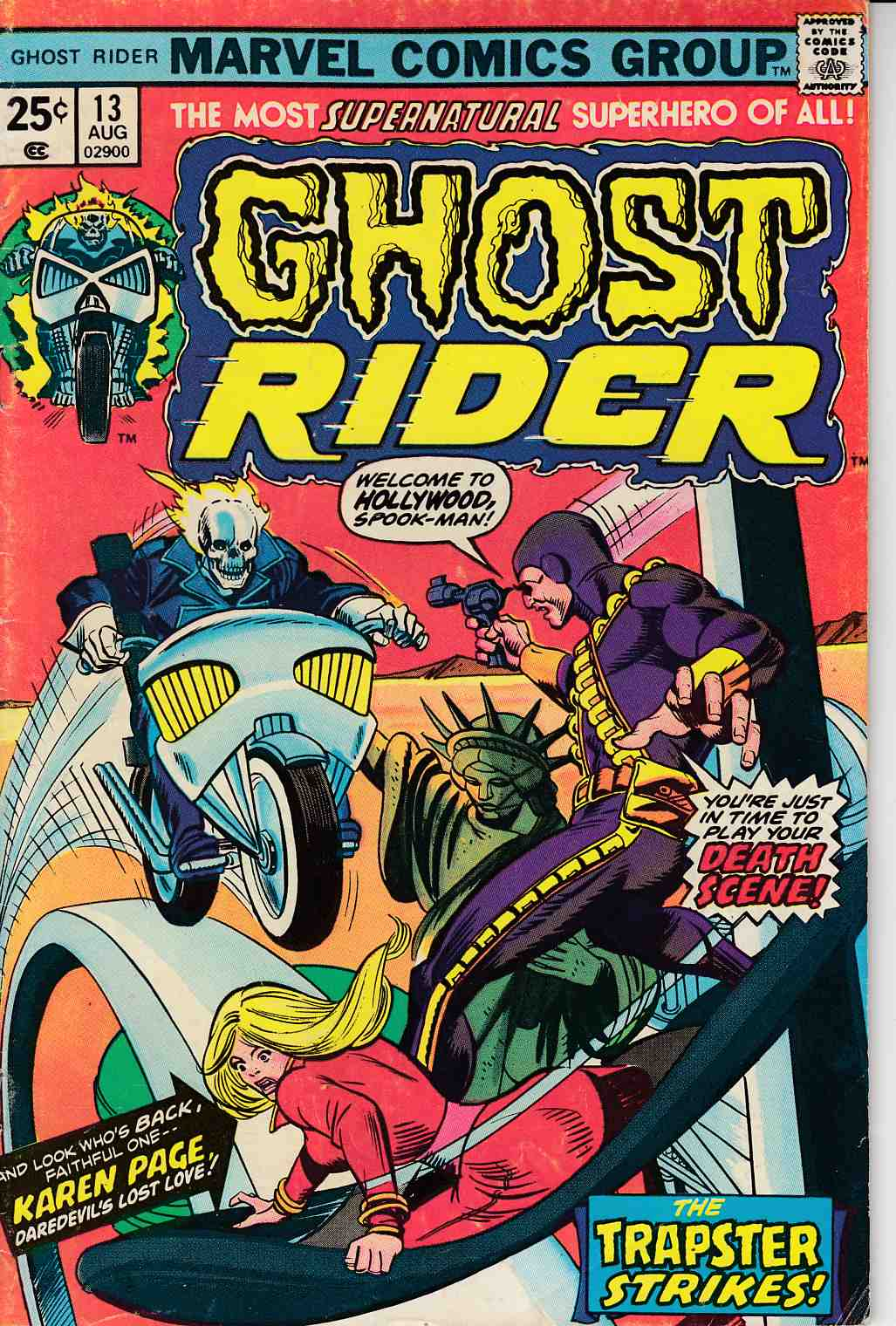 Ghost Rider #13 Very Good (4.0) [Marvel Comic] THUMBNAIL