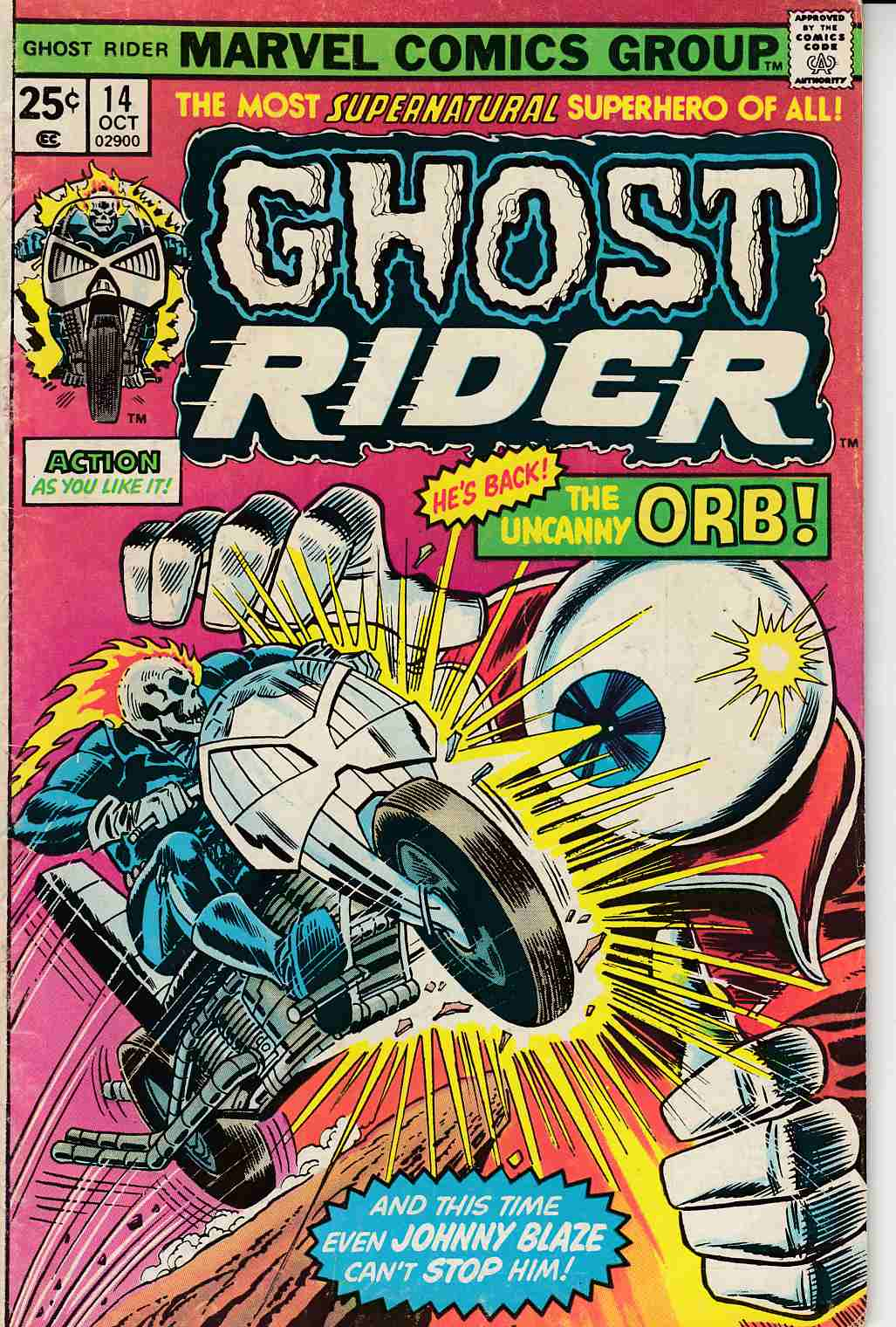 Ghost Rider #14 Very Good (4.0) [Marvel Comic] THUMBNAIL