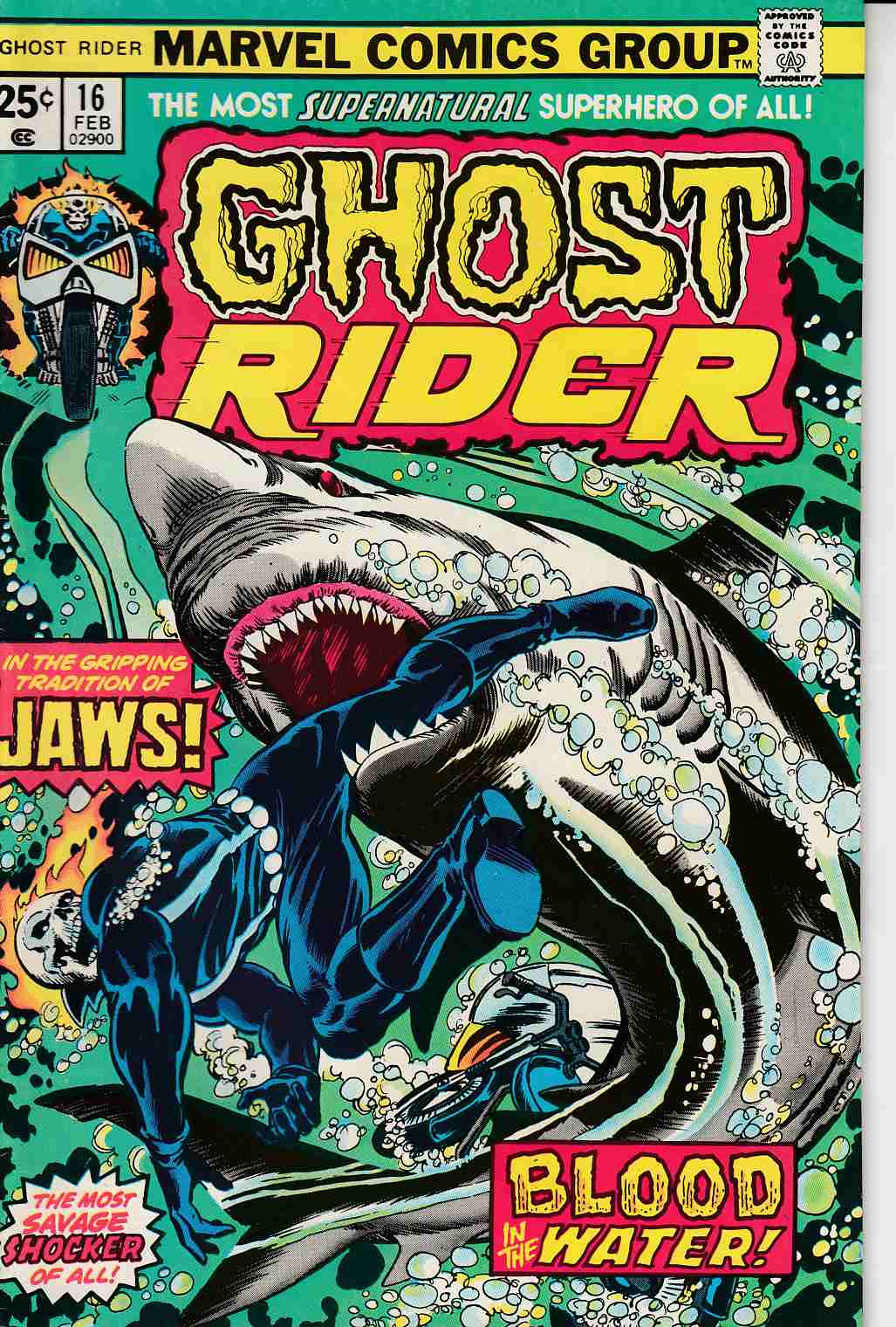 Ghost Rider #16 Very Fine Plus (8.5) [Marvel Comic] THUMBNAIL