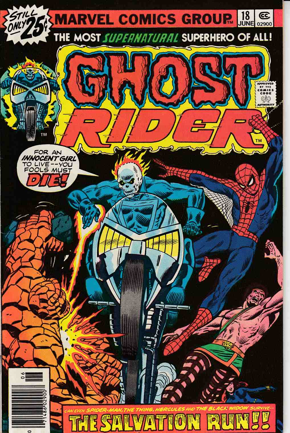 Ghost Rider #18 Very Fine (8.0) [Marvel Comic] THUMBNAIL