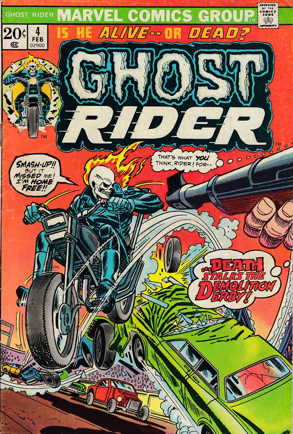 Ghost Rider #4 Good/Very Good (3.0) [Marvel Comic] THUMBNAIL