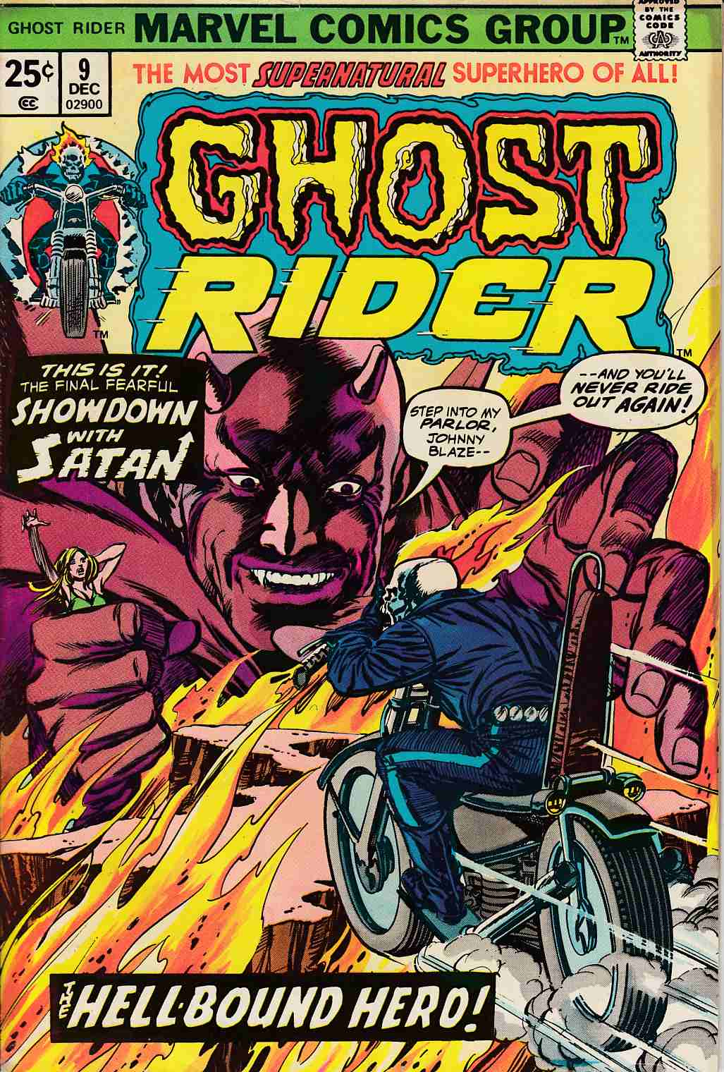 Ghost Rider #9 Very Good (4.0) [Marvel Comic] THUMBNAIL