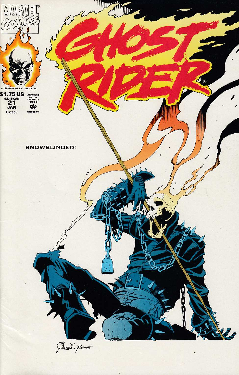 Ghost Rider #21 Very Fine Minus (7.5) [Marvel Comic] THUMBNAIL
