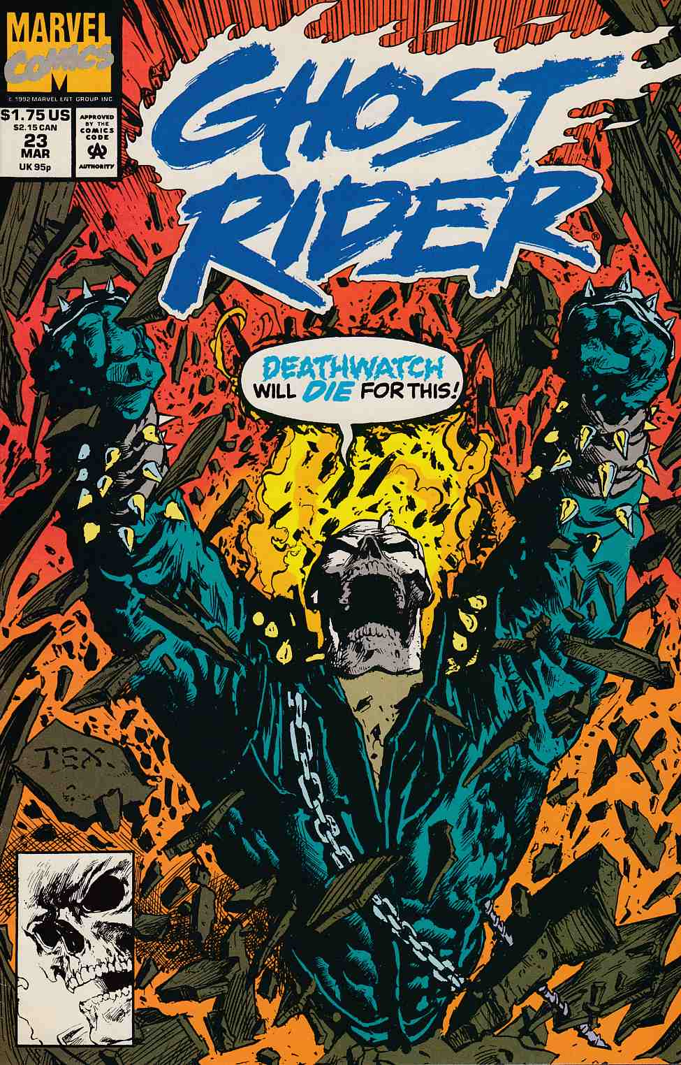 Ghost Rider #23 Near Mint (9.4) [Marvel Comic] THUMBNAIL
