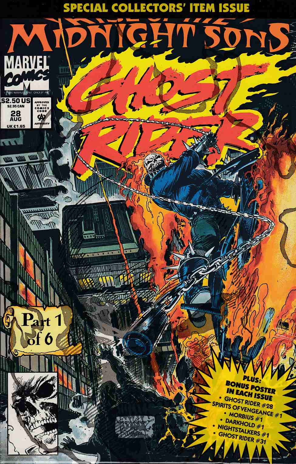 Ghost Rider #28 Polybagged Edition Near Mint (9.4) [Marvel Comic] THUMBNAIL