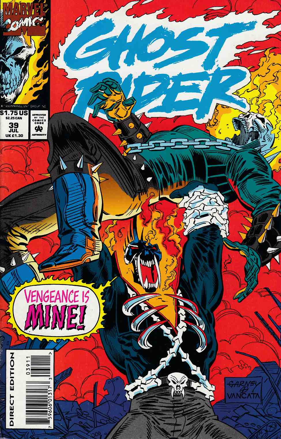 Ghost Rider #39 Near Mint (9.4) [Marvel Comic] LARGE