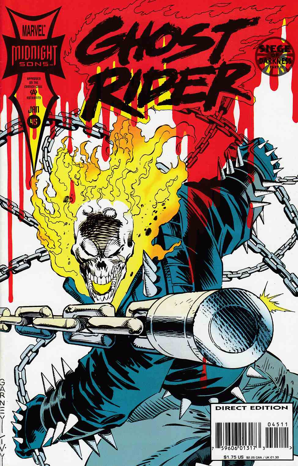 Ghost Rider #45 Near Mint (9.4) [Marvel Comic] LARGE