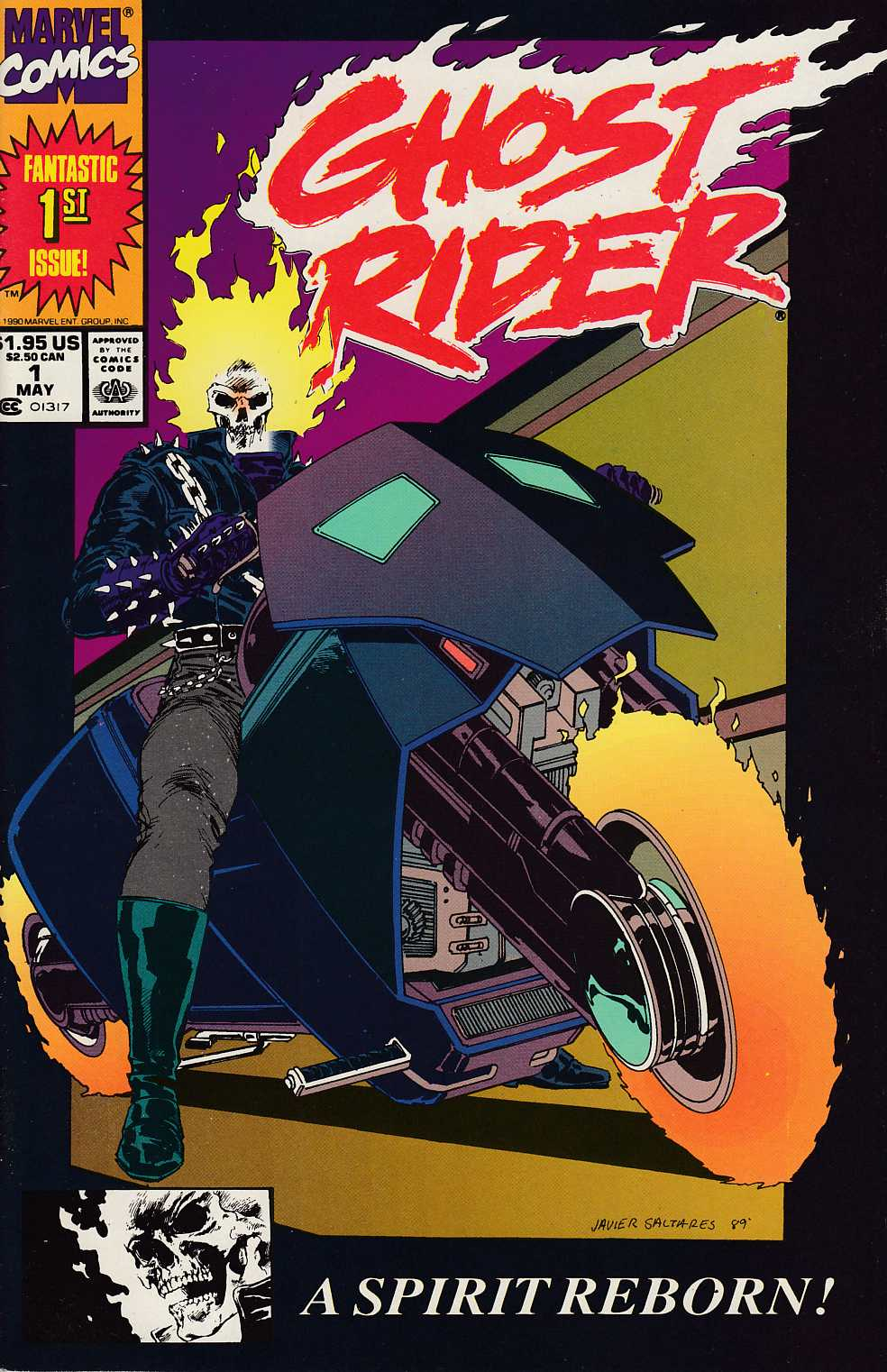 Ghost Rider #1 Second Printing Very Fine Minus (7.5) [Marvel Comic] THUMBNAIL