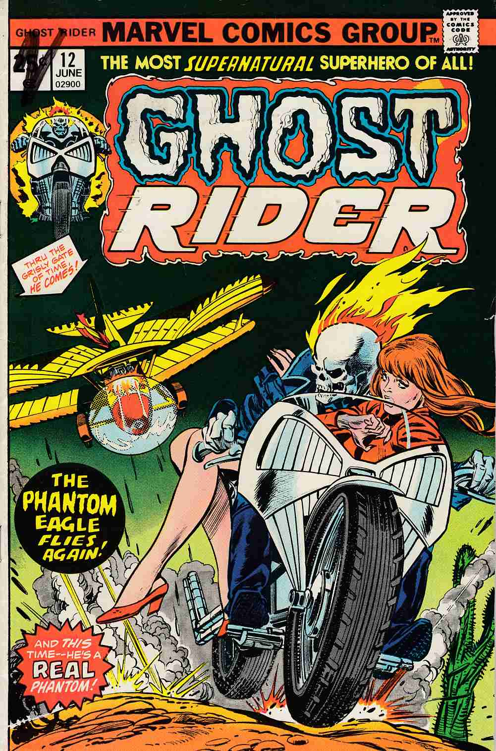 Ghost Rider #12 Very Good Minus (3.5) [Marvel Comic] THUMBNAIL